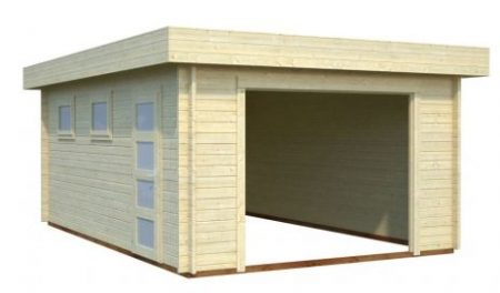 garage toit plat 19 m 44 mm sans portes abris bois jardin. Black Bedroom Furniture Sets. Home Design Ideas