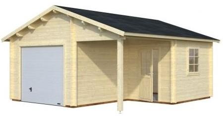 Garage bois avec auvent archives abris bois jardin - Cocheras de madera prefabricadas ...