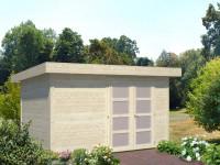 abris jardin bois toit monompente